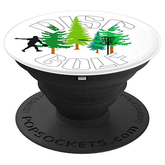 Disc Golf Ninja With Green Trees Frisbee   Chain Basket Grip - PopSockets  Grip and Stand b149917ceaa7