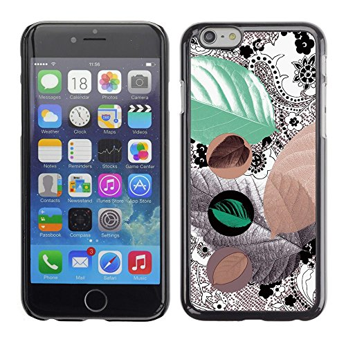 Abstract Tribal Leaves Pattern Apple iPhone 7 (4.7 inchesHard Printing Protective Cover Protector Sleeve Shell Case Cover