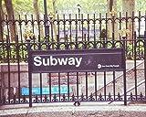 Subway Sign photo New York City photography urban decor 5x7 inch Print