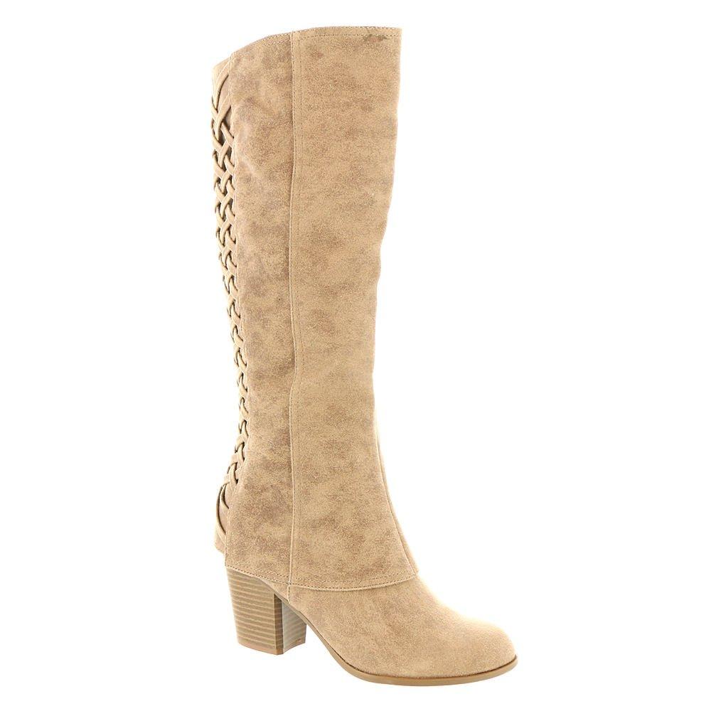 Fergalicious Women's Tootsie Wide Calf Knee High Boot B06XSX4BFP 8 B(M) US|Sand