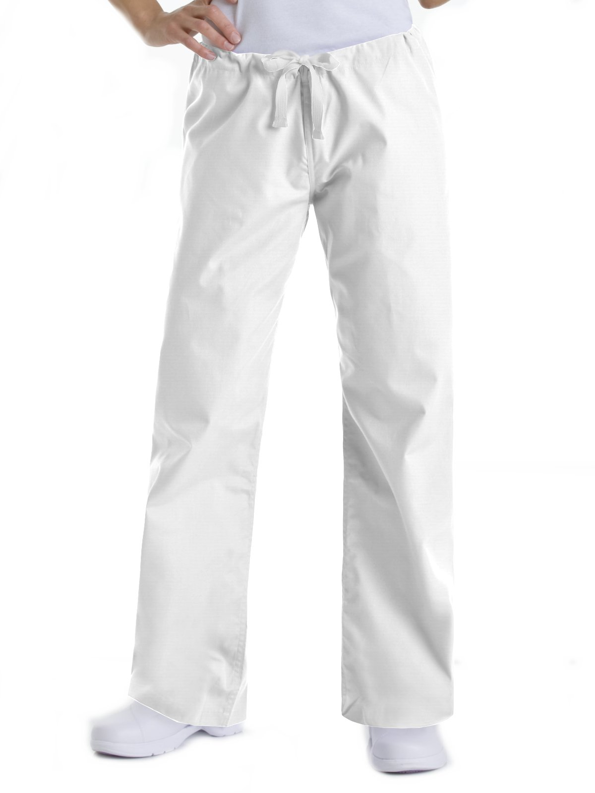 Urbane Essentials 9502 Relaxed Drawstring Pant White MP