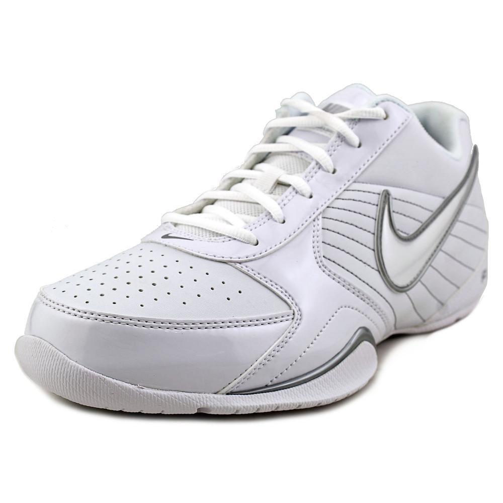 NIKE Air Baseline Low Men Round Toe Leather Basketball Shoe B00586ATKM 7.5 D(M) US|White/White-Metallic Silver