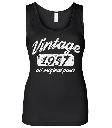 Cybertela Mens 62th Birthday Gift Vintage 1957 All Original Parts Sleeveless T-Shirt