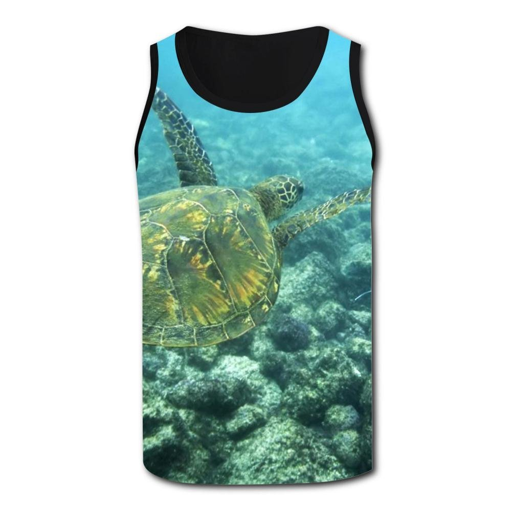 Gjghsj2 Cartoon Sea Turtle Tank Top Vest Shirts Singlet Tops Sleeveless Underwaist for Men Basketball