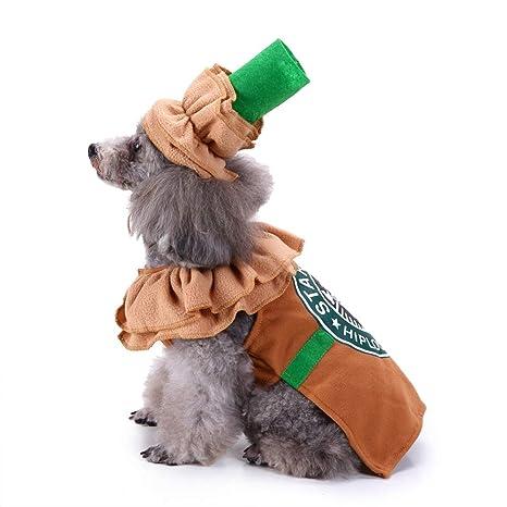 Kanghua Disfraz de Latte para Perro, para Halloween, café, Perro o ...