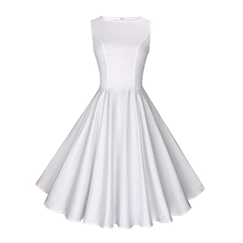 Anni Coco Womens Classy Audrey Hepburn 1950s Vintage Rockabilly Swing Dress