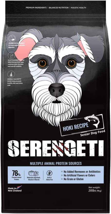 Beamlet Big Paws Serengeti Grain Free Hoki Recipe Dry Senior Dog Food