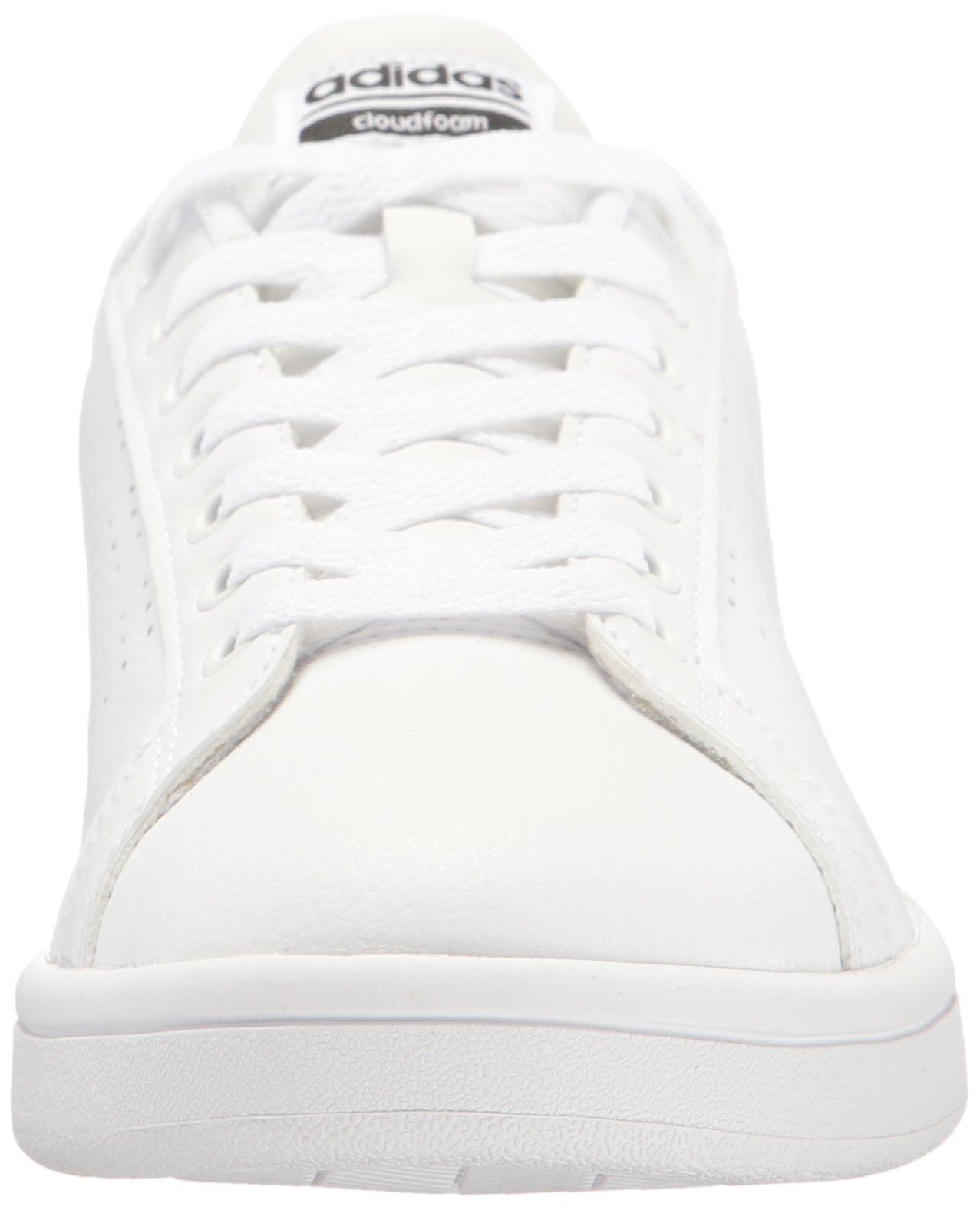 adidas Women's Shoes Cloudfoam Advantage Clean Sneakers, White/White/Black, (7.5 M US) by adidas (Image #4)