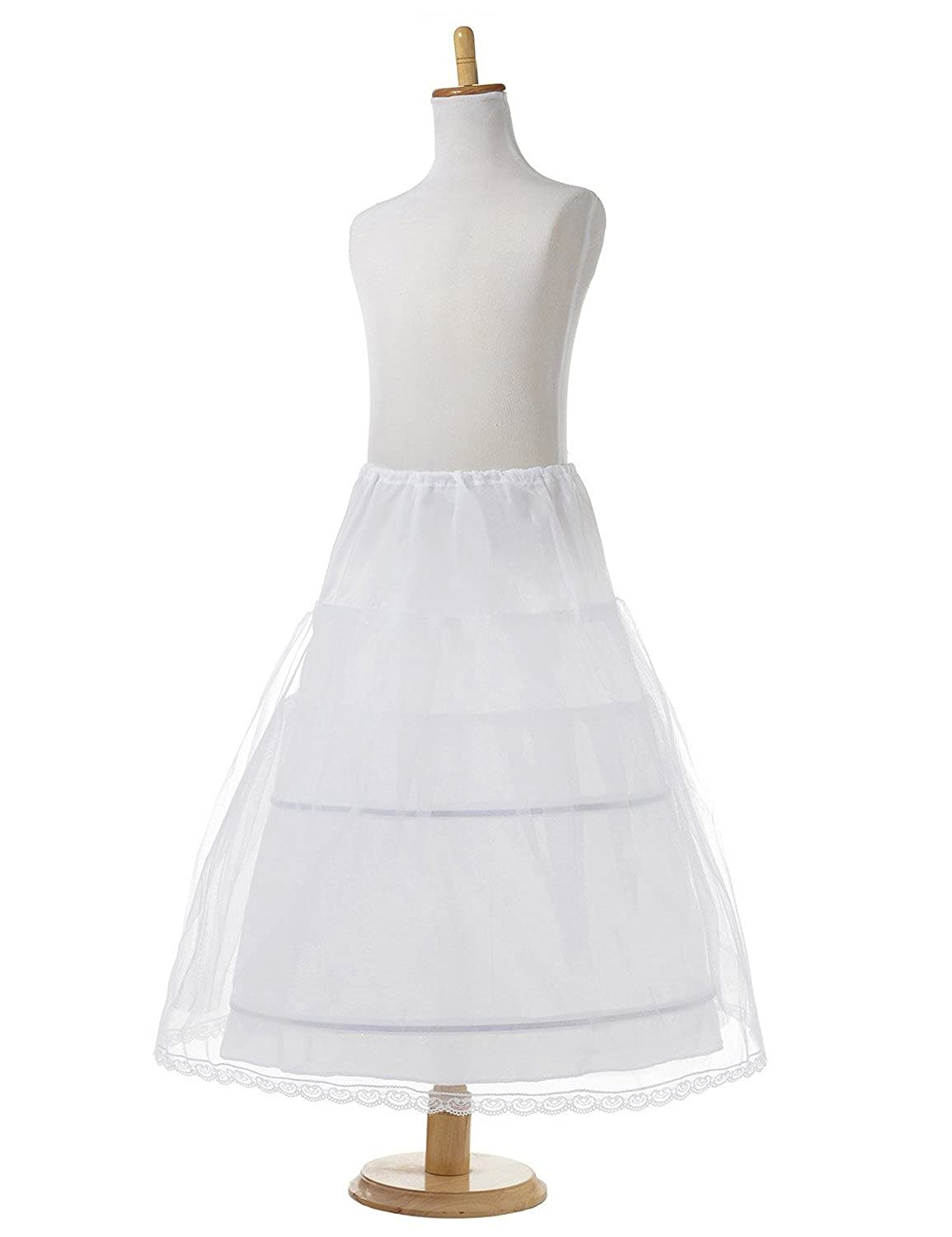 AliceHouse Girls 2 Hoop Flower Girl Crinoline Wedding Petticoat Underskirt MPC021