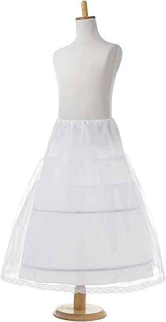 AliceHouse Girls 2 Hoop Flower Girl Crinoline Wedding Petticoat Underskirt MPC021