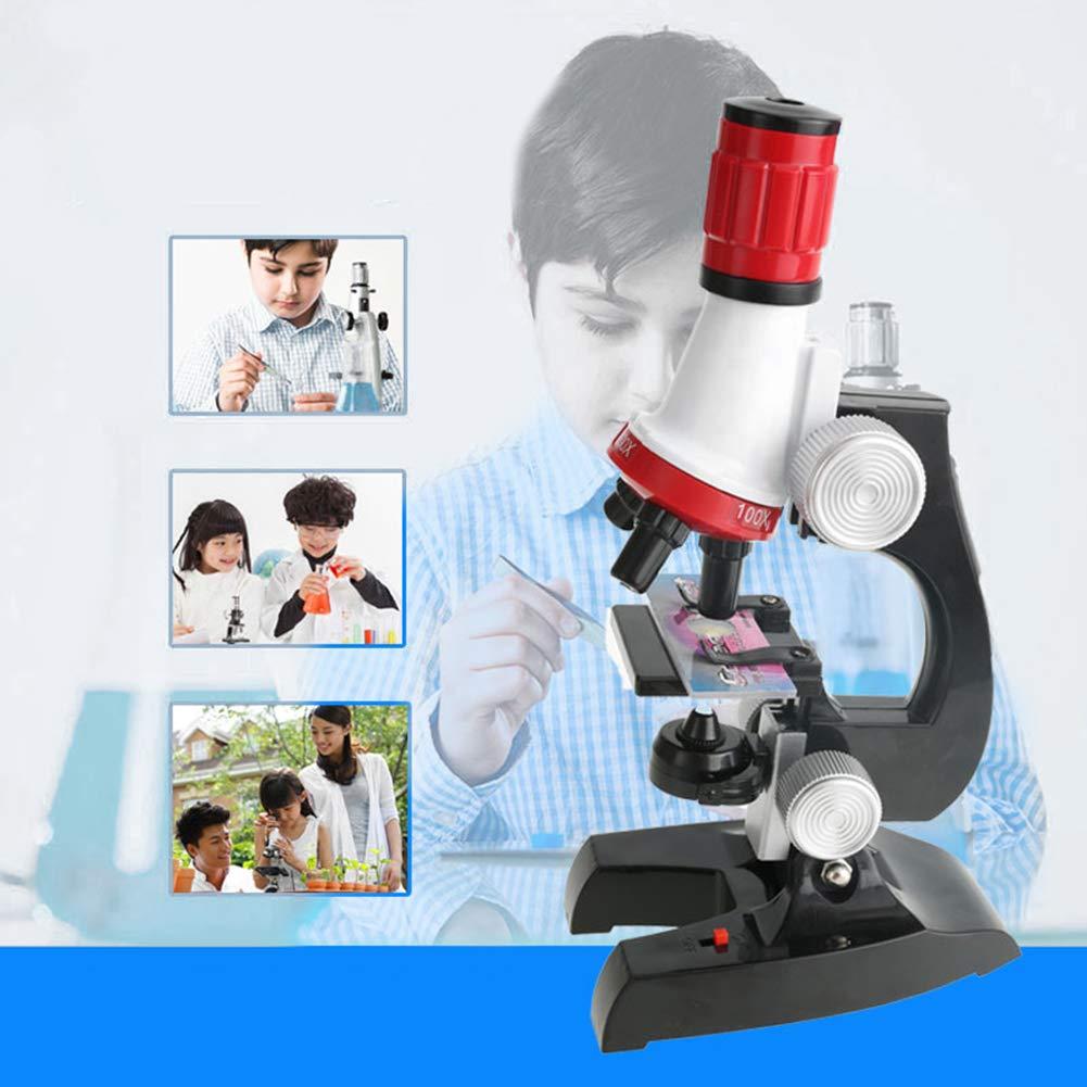 mAjglgE Microscopio biológico LED 1200 x para niños de la Escuela de la casa, Juguete Educativo de Regalo