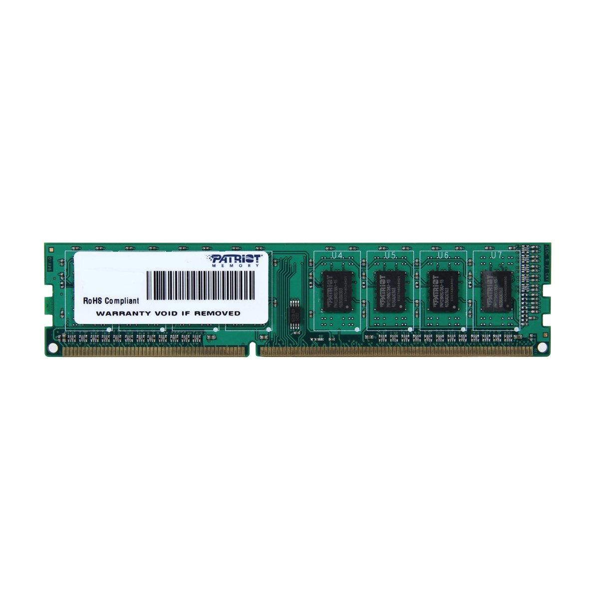 Patriot Signature 4GB DDR3 PC3-12800 (1600MHz) CL11 DIMM Memory Module PSD34G160081