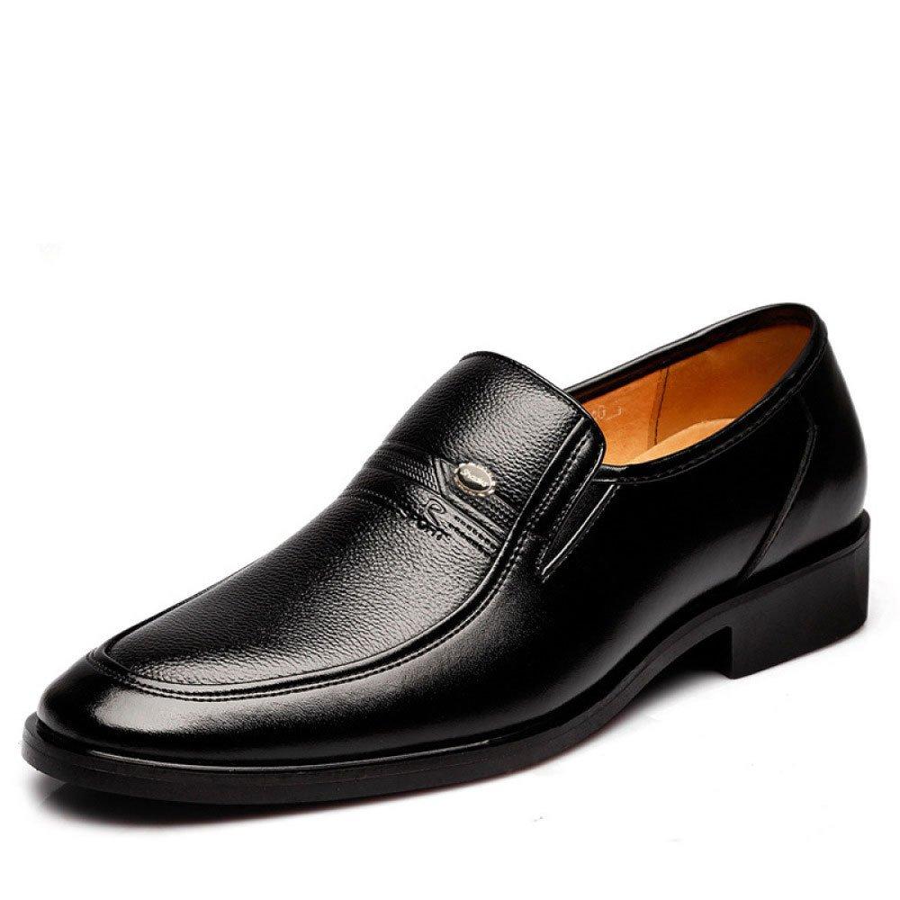 Zapatos de Cuero de Negocios de los Hombres de Negocios Zapatos de Cuero de los Hombres de la Moda Suave y Transpirable Zapatos Casuales 38 EU|Black