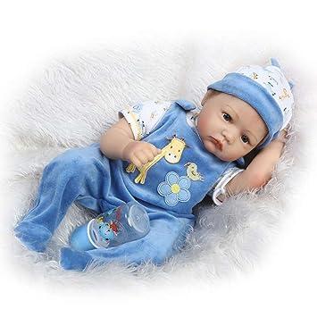 Amazon.com: seedollia muñeca bebé New Born Boy de silicona ...