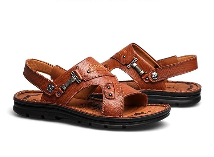 e69d95ed04dab ... Flip Flops Leather Summer Thong Sandles Sandals Brown 40 6.5 D(M  Amazon.com  Baviue Men s Hiking Summer Leather Beach Sandals Sandles Sandals official  ...