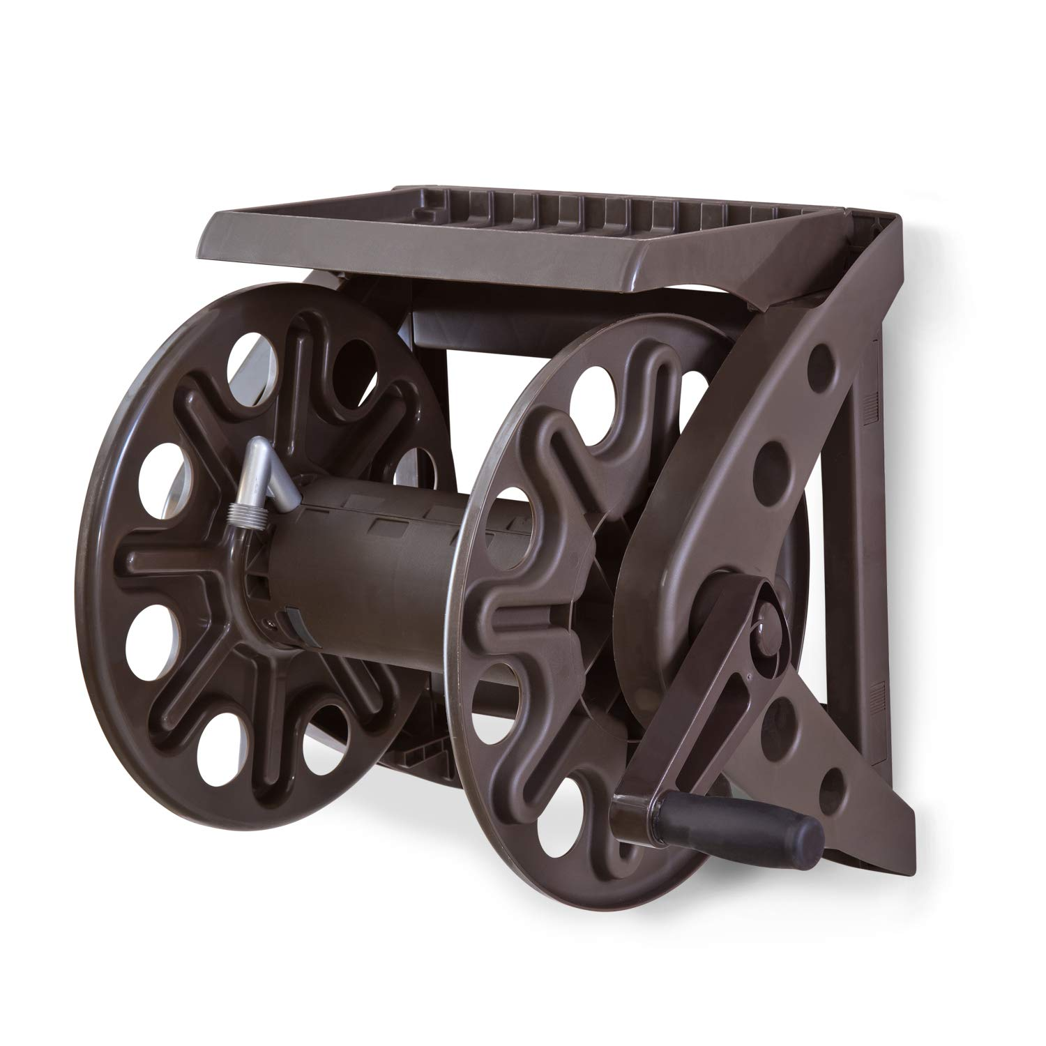 Liberty Basics 512 Wall Mounted Hose Reel with Shelf by Liberty Garden Products