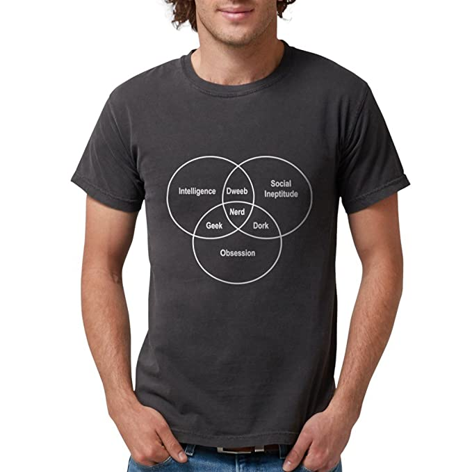 Amazon Cafepress Nerd Venn Diagram T Shirt Mens Comfort