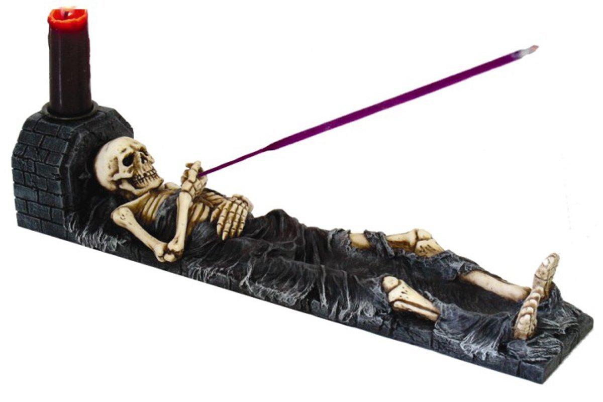 Pacific Giftware 8277 Skeleton Candle Holder & Incense Burner
