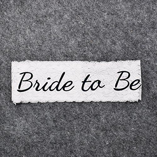 Night Supplies White Shower Black Bachelorette Lace Bride To Be Wedding Sash