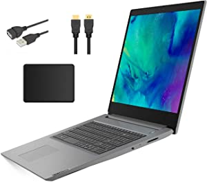 "Lenovo Ideapad Premium 17.3"" HD+ LED Backlight Laptop Bundle Woov Accessory 