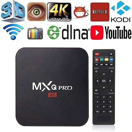MXQ Pro 4K Android 7 1 TV Box Amlogic S905W Quad Core 64 Bits 1GB/8GB Smart  TV Box Support WiFi 3D 1080P Ultra HD 4K DLNA Home Media Player