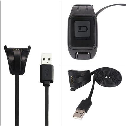 USB Carga de Datos Cable Cargador para TomTom Spark Cardio Deporte Reloj GPS Fitness reloj bastidor