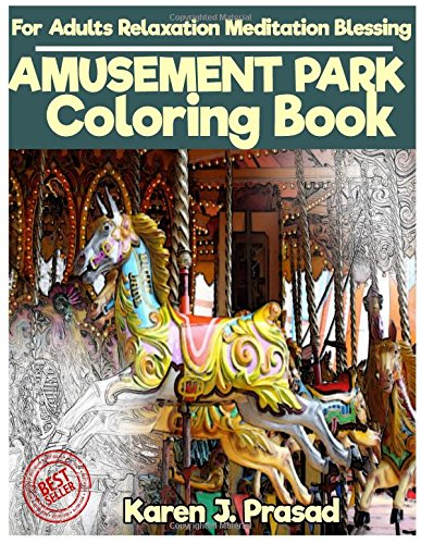 AMUSEMENT PARK Coloring book for Adults Relaxation  Meditation Blessing: Sketches Coloring Book Gray scale Pictures
