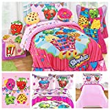 Shopkins Toys Complete 5 Piece Bedding Comforter Set - Twin