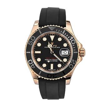 Rolex Yacht Master 40 Noir Dial18 K Or Rose Montre pour Homme 116655 ...