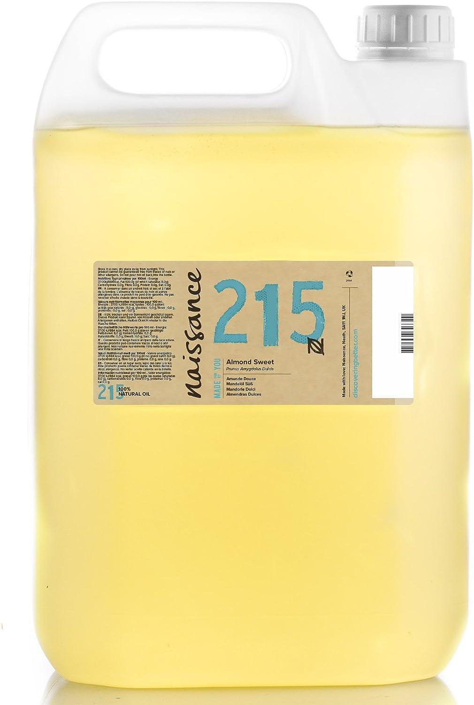 Naissance Aceite de Almendras Dulces n. º 215 – 5L- 100% natural para humectar y equilibrar la piel, hidratar el cabello y todo el cuerpo.