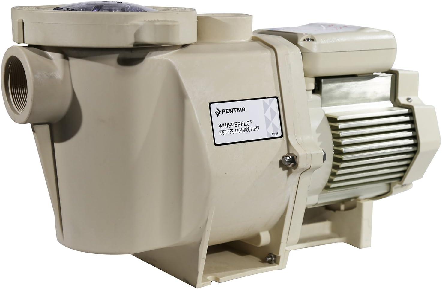 Pentair 011642 WhisperFlo High Performance TEFC Super-Duty Pool Pump, 1-1/2 Horsepower, 208-230/460V, 3 Phase