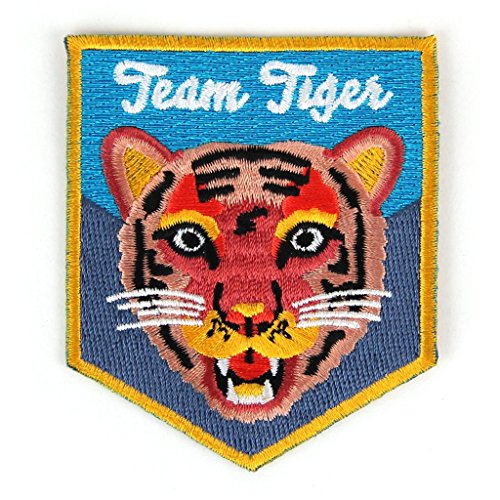 Team Tiger Embroidered Sew or Iron-on Backing Patch ()
