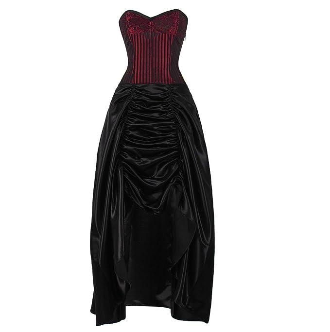 Corset Apsel vestido gótico negro XXXL