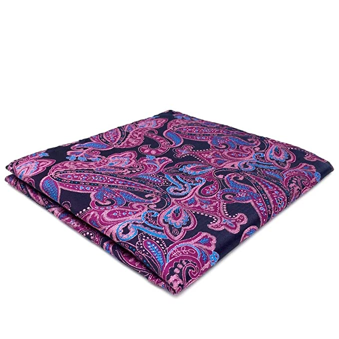 Amazon.com: shlax & Wing Paisley Azul y Rosa bolsillo ...