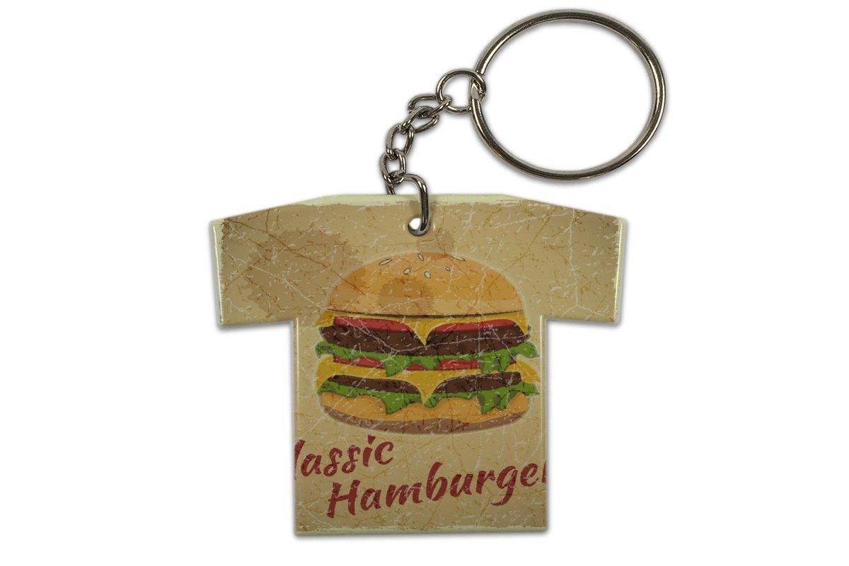 Llavero Diversión Nostálgica Hamburguesa con queso ...