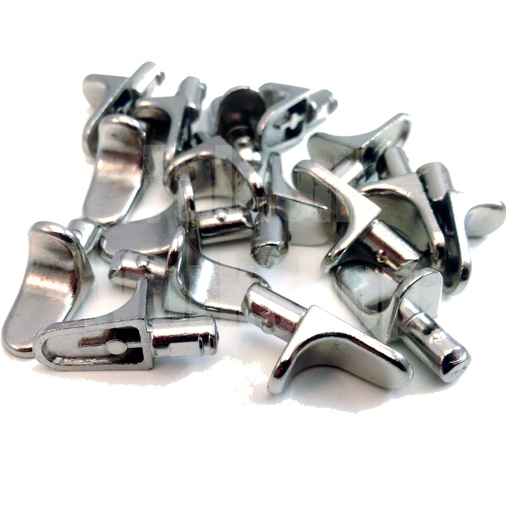 24 PACK OF METAL 5mm (M5) SHELF SUPPORT STUD PEGS, KITCHEN CABINETS IKEA STEEL PEG PLUG IN