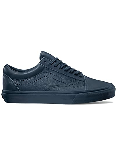 Vans Old Skool Reissue Leather Midnight Navy Women s Shoes (7.5 B(M) US 4d4b66ab83ec