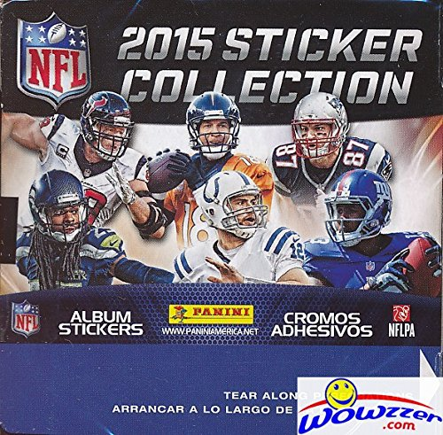 2015 Panini NFL Football Sticker MASSIVE 50 Packs Factory...