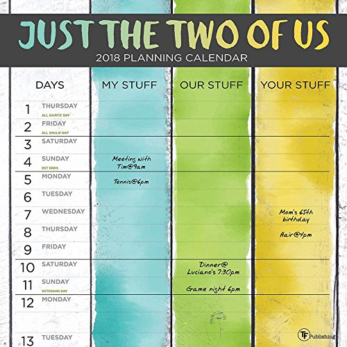 2018 Just the Two of Us Wall - Us 2 Year