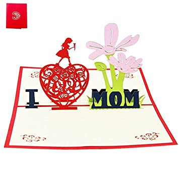 Amazoncom Mothers Day 3d Pop Up Greeting Card Gifts Flower I