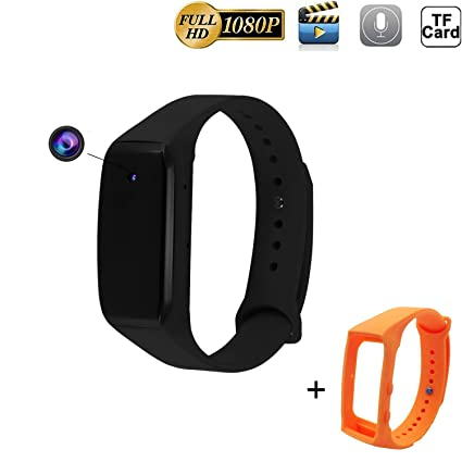 Jiusion 16GB 1920 x 1080P Full HD cámara espía, Watch Fitness Tracker estilo de cámara