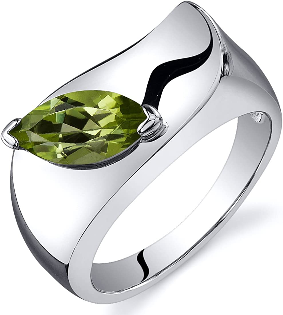 Sterling and Peridot ring size 5