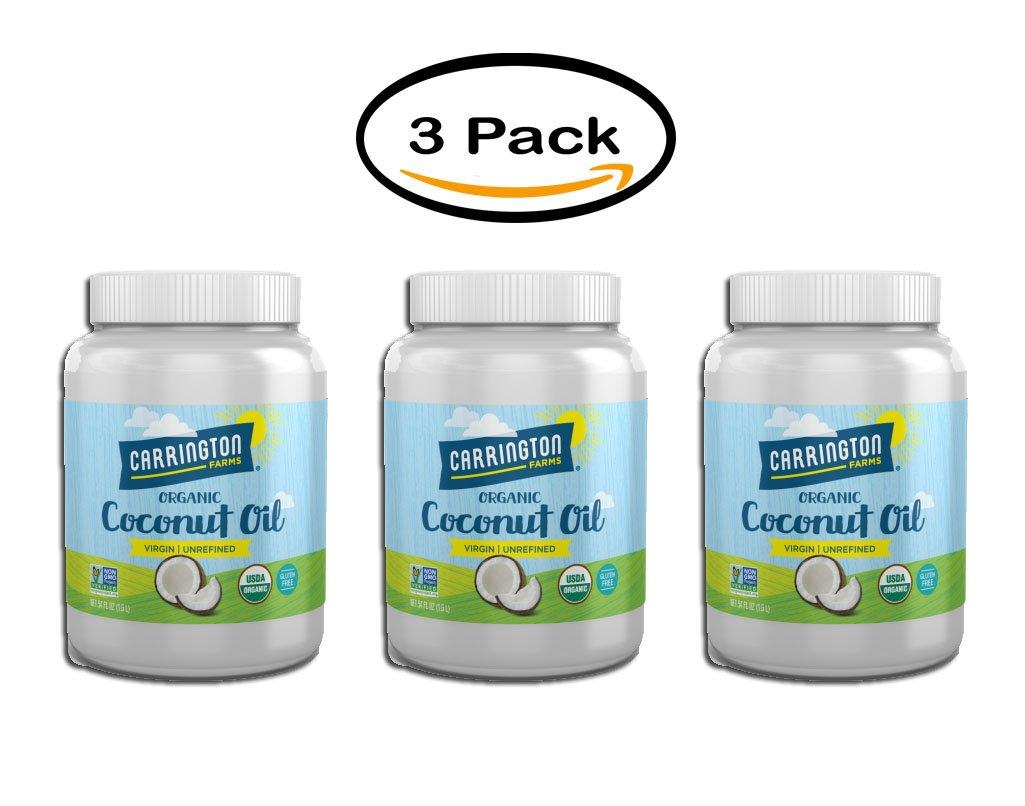 Pack of 6 - Carrington Farms Virgin Unrefined Coconut Oil, 54.0 FL OZ by Carrington Farms