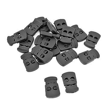20 Kordelstopper aus Kunststoff schwarz