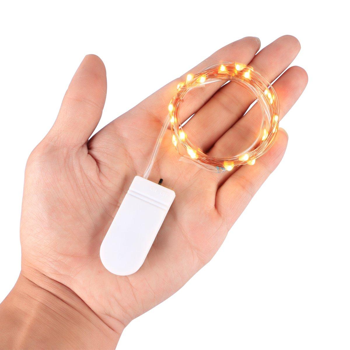 ZWOOS 6PCS/set LED de Luz Cálida Cadena Luces Con Pilas Del 20 LEDs Luces de Hadas Micro 2M Desarrollado Cadena de Luz Estrellada para Jardines, Hogar, ...