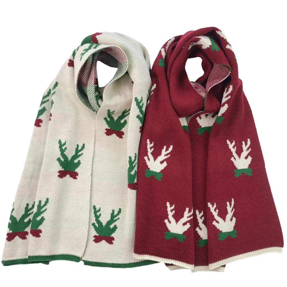 Christmas Scarves,NESEE Han Shi Winter Women Fashion ImitationLightweight Tassels Christmas Snowflakes Warm Scarves