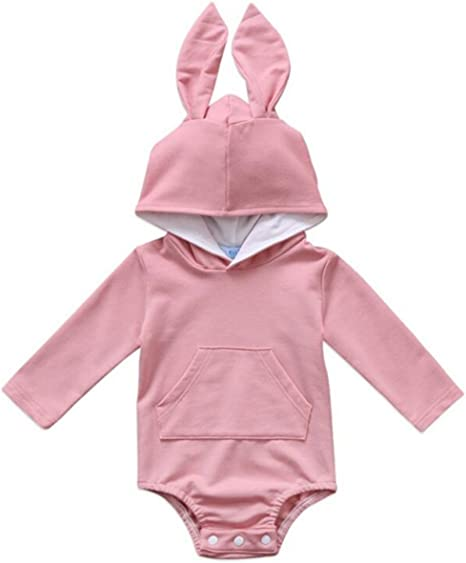 US Easter Toddler Baby Girls Boys Rabbit Ear Romper Jumpsuit Clothes Outfits NEW