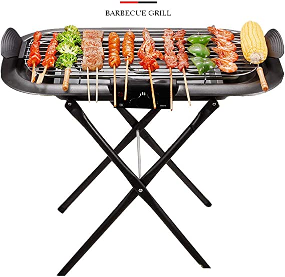 YJHH Grill Au Charbon Verticale Barbecue A Charbon Pliable