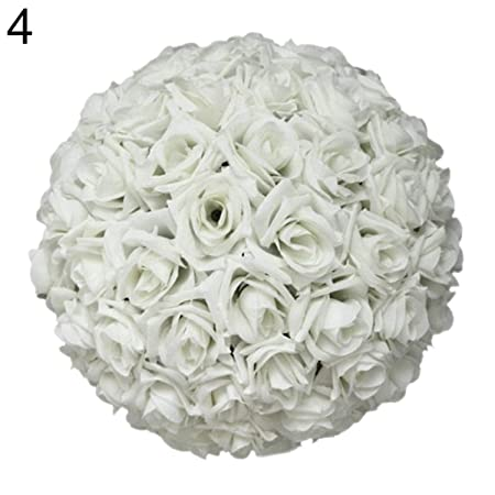 Bola de Flores Artificiales de Seda de 8 Pulgadas para decoración ...