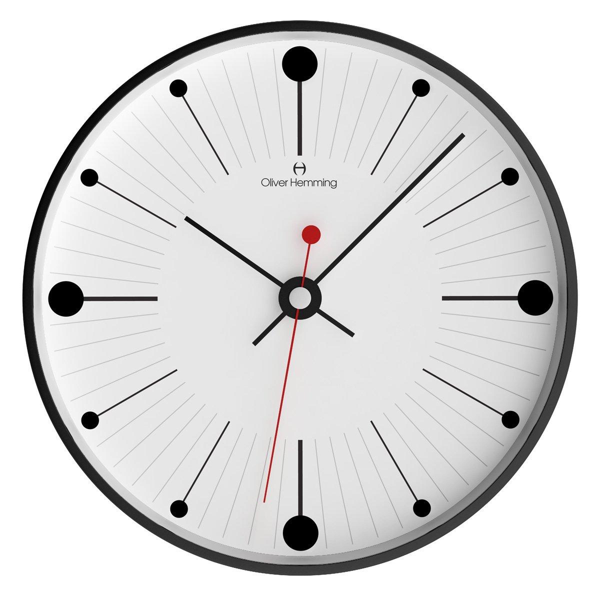オリバーヘミング 壁掛け時計 イギリスブランド 300mm W300B6WTB [正規輸入品] B079WTP1H1
